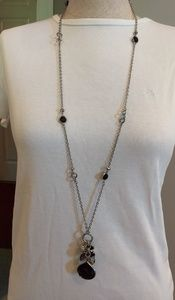 WHBM silver/black necklace